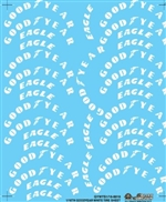 White Goodyear Tire Mini Decal Sheet (1/16)