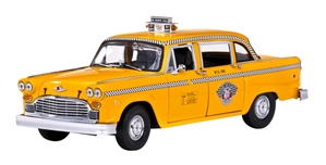 "1981 New York City Checker ""Clark"" Taxicab Diecast Kit (1/18) (fs)"