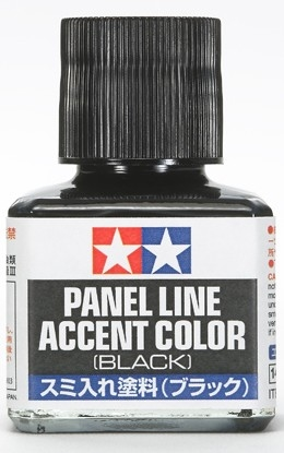 Tamiya Black Panel Line Accent Color or Wash (40 ml)