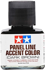 Tamiya Dark Brown Panel Line Accent Color or Wash (40 ml)