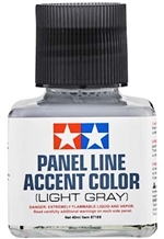Tamiya Light Gray Panel Line Accent Color or Wash (40 ml)