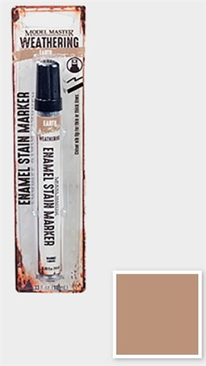 Model Master Weathered Enamel Stain Marker Earth 1/3 oz