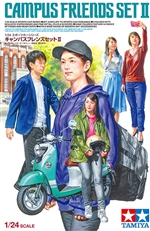 "Campus Friends Set II (5 figures & Yamaha Vino Scooter) (1/24) (fs) <br><span style=""color: rgb(255, 0, 0);"">Just Arrived</span>"