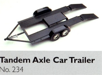 Tandem Axle Car Hauler Trailer Diecast Kit (1/24) (fs)