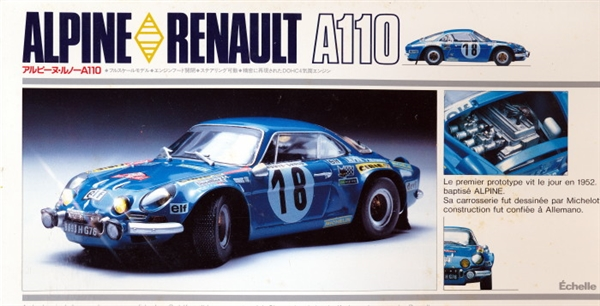alpine renault a110 rally monte carlo 1 24 fs. Black Bedroom Furniture Sets. Home Design Ideas