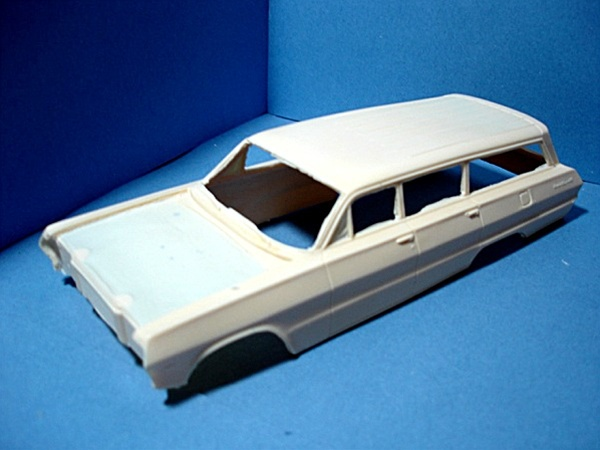 1963 chevy belair 4 door station wagon with open hood resin trans kit. Black Bedroom Furniture Sets. Home Design Ideas