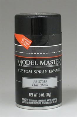 Flat Black Enamel (3 oz Spray Can)