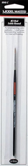 No. 2 Red Sable Round Paint Brush