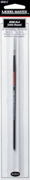 3/0 (000) Red Sable Round Paint Brush