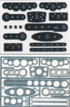 Street Rod Gauge Panels Digital Style 1/24 & 1/25