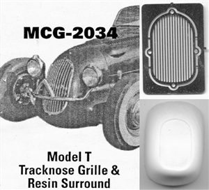 Model T Tracknose Grille: includes resin grille surround