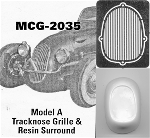 Model A Tracknose Grille: includes resin grille surround