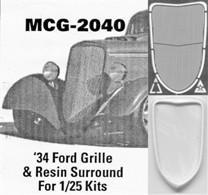 '34 Ford  Grille 1/25: includes resin grille surround