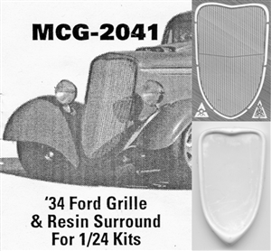 '34 Ford  Grille 1/24: includes resin grille surround