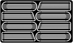 Billet Style Street Rod Hood Side Louvers for 1/24 & 1/25