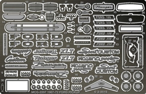 1967-1972 Ford F-100 Pickup Photo-Etch Detail Set for Moebius-Model King Kits