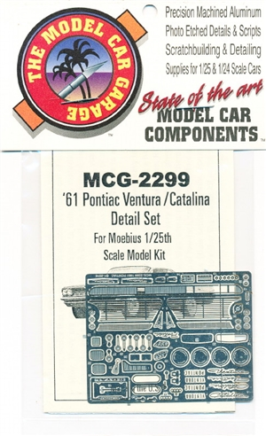 1961 Pontiac Ventura-Catalina Photo-Etch Detail Set for Moebius Kits