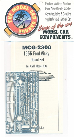 "1956 Ford Victoria  Photo-Etch Detail Set for AMT Kits <br><span style=""color: rgb(255, 0, 0);"">Back in Stock</span>"