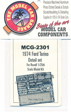 1976 Ford Gran Torino Photo-Etch Detail Set for Revell Kits