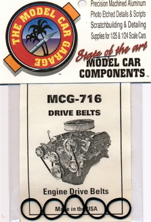 Engine Pulley Drive Belts (5 per pack)