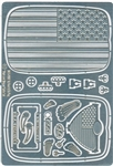 1932 Ford American Flag 'Stars and Strips' Grille Set for 1/25