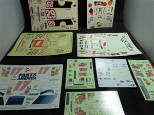 Racing Decals Grab Bag Assortment  (1/25-1/24) 9 Sets