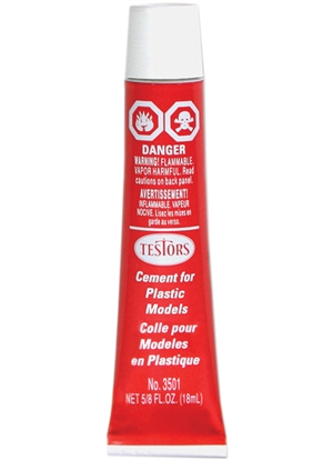 "Testors 5/8 oz Plastic Glue ""Cement"""