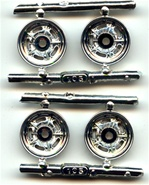 1976 MPC's Correct front chrome wheels for Early Altered Class like Wild Willie Borsch 2 sets of 2  1/25